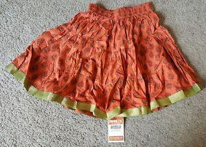 Rajrang Ethnic wear short skirt, Orange, Sz. Sm.
