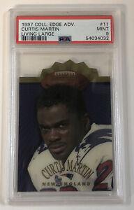 1997 Collectors Edge Advantage Curtis Martin Living Large Die-Cut PSA 9 Pop1!