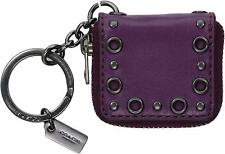 COACH LEATHER MINI STUDDED PURSE PICTURE FRAME KEY FOB IN DOE/PLUM~F64140~NWT