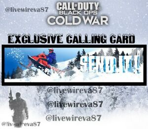 Call of Duty Cold War - WarZone Send It! Exclusive Calling Card (Season 4)