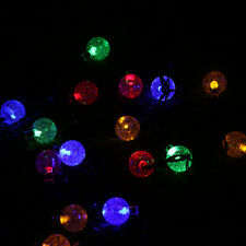 20LED 16.4FT String Ball Lights Xmas Wedding Decor Lamps Outdoor Solar Power