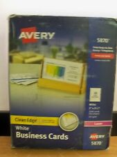 New Avery 5870 2000 2 X 312 Laser Business White Cards Free Priority Samph