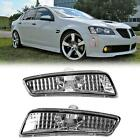 For 08-09 Pontiac G8 GT GXP Clear Front Bumper Side Markers Lights Pair LH RH  for sale