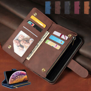 Retro Leather Zipper Card Wallet CaseFor Oppo Reno4 Z F Se Lite Reno5 Pro Plus5G