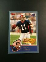 2003 Topps # 292 DREW BLEDSOE New England Patriots Weekly Wrap Up RARE !