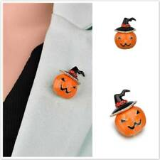 Halloween Crystal Rhinestone Enamel Pumpkin Brooch Pin Womens Jewellery Gift Co