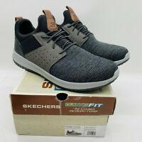 Skechers Men's Classic Fit-Delson-Camden Slip On Sneakers Black / Gray US 10