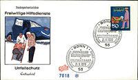 Ersttagsbrief FDC 1970 Stempel Bonn Freiwillige Hilfsdienste Unfallschutz Brief