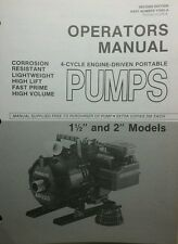 Homelite AP Series Pump Operators, Service & Parts Manual 8p Pond Water Fire 320