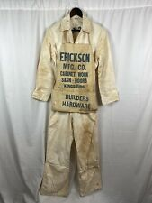 Vintage C1940 Embroidered Calco Union Coverall W/ Matching Apron