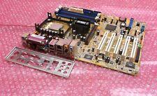 Asus P4P800-E Rev 1.02 Deluxe Socket 478 mPGA 478B con processore e piastra