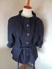 Ann Taylor Loft  Women's Long Sleeve Blue Blazer Jacket Size 8 Belt Tie Cotton??
