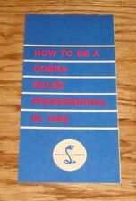 1968 Ford Shelby Cobra GT 350 500 Dealer Sales Professional How To Brochure 68