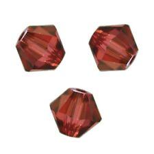 20 Perles Toupies 4mm cristal Swarovski  - PADPARADSCHA SATIN