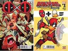 (2013) Deadpool Kills Deadpool #3 + (2016) Deadpool the Duck #1! 1st Appearance!