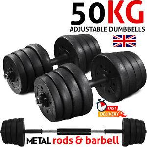 50kg Dumbbell Set Adjustable Weight Plates Barbell Dumbbell for Home GYM Workout