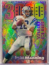 New listing Peyton Manning 1999 Topps Chrome 3000 Yard Club Refractor Colts P81