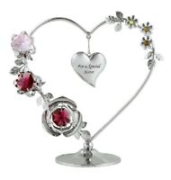 Crystocraft Crystal Love Heart Ornament Figurine Gift For A Special Sister
