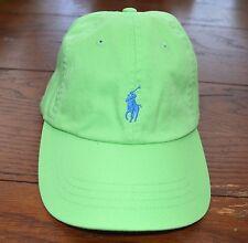 RALPH LAUREN HAT BASEBALL CAP NANTUCKET GREEN BLUE LOGO NEW W/TAG $40 ONE SIZE