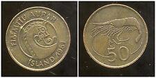 ISLANDE   50 aurar  1981  ANM  ( bis )