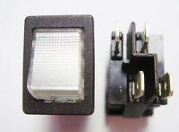 2 Stück Wippschalter Schalter 2xEIN-AUS 250V 10A Kontroll Leuchte Anzeige #3S39#