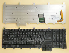 NEW for DELL Alienware M17X R4 M18X R1 M18X R2 Keyboard Backlit Canadian Clavier