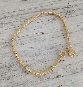 """Gold bracelet, Beaded bracelet, """"Handmade"""",  gold filled beads, 14k, 4402"""