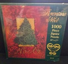 Florentine Noel Christmas Tree Jigsaw Puzzle 1000 pieces Holiday Red Green