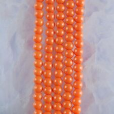 """HP1249-h 4mm Baked Porcelain Glass Ball Loose beads 16"""""""