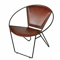 Edler Sessel Jelpa Braun Leder Stuhl Design Loungesessel Wohnzimmerstuhl Neu