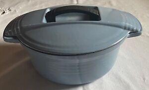 Le Creuset Blue 23 Pan With Very Unusual Handle in Lid