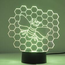 Honeycomb Bee Colour Changing LED Mini Acrylic Light
