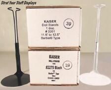 """M HIGH Fit 11.5/""""- 12.5/"""" tall dolls BARBIE,LIV NEW 3 stands KAISER #2275 BLACK"""