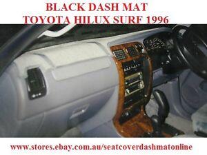DASH MAT, DASHMAT, BLACK DASH MAT FIT TOYOTA HILUX  SURF 1996, BLACK WITH AIRBAG