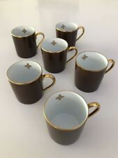 Louis Vuitton Monogram Flower Novelty Coffee Tea Cup Brown VERY LIMITED 6pcs