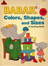 Babar coloring book RARE
