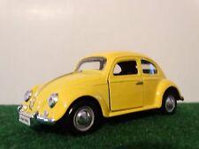 Signature 1967 Volkswagen Beetle VW Bug 1:24 Scale Diecast Model Yellow Car