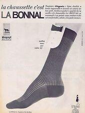 PUBLICITE ADVERTISING 015 1965 LA BONNAL chaussettes
