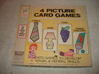 Vintage 1972 Visual & Verbal Children's picture card game Educational learning