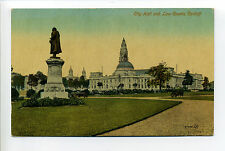 Wales - Cardiff, City Hall, Law Courts, monuments, early