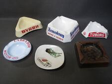 Lot 6 anciens cendriers de bistrot publicitaire Kronenbourg Byrrh Tuborg vintage