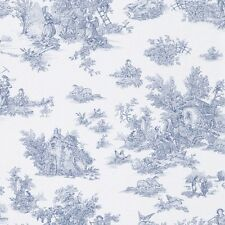 Tapete Landhaus Muster blau weiß Tapete Rasch Textil Petite Fleur 3 285078 (3,00