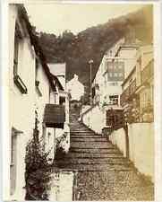 W.C. Murphy, UK, Clovelly, New Inn   Vintage albumen print. Vintage England. Dry