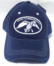 DUCK-COMMANDER-Dynasty-Logo-Dark-Blue-100-Cotton-Distressed-Hat-Men-039-s-One-S