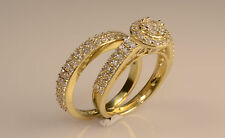 Ladies Yellow Gold two piece Set Wedding And Engagement Rings her Briadal set