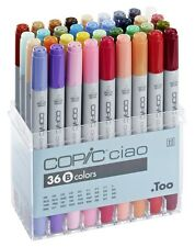 Copic Ciao Marker - 36B Colour Set - Twin Tipped - Refillable With Copic Inks