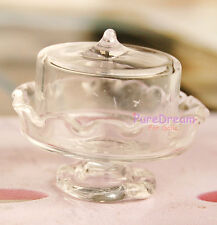 Dollhouse Miniatures Glass Transparent Dessert Pot Plate Jar Artwork DG007