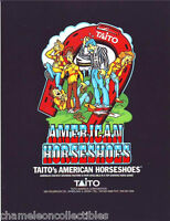 AMERICAN HORSESHOES By TAITO ORIGINAL NOS VIDEO ARCADE GAME PROMO SALES FLYER