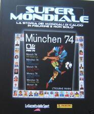 SUPERMONDIALE=MONACO 74=RIPRODUZIONE ALBUM PANINI=Beckenbauer=Chinaglia=Polonia