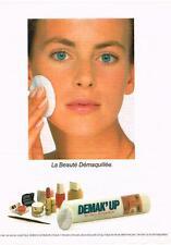 PUBLICITE  1976  DEMAK'UP  cotons démaquillants cosmétiques